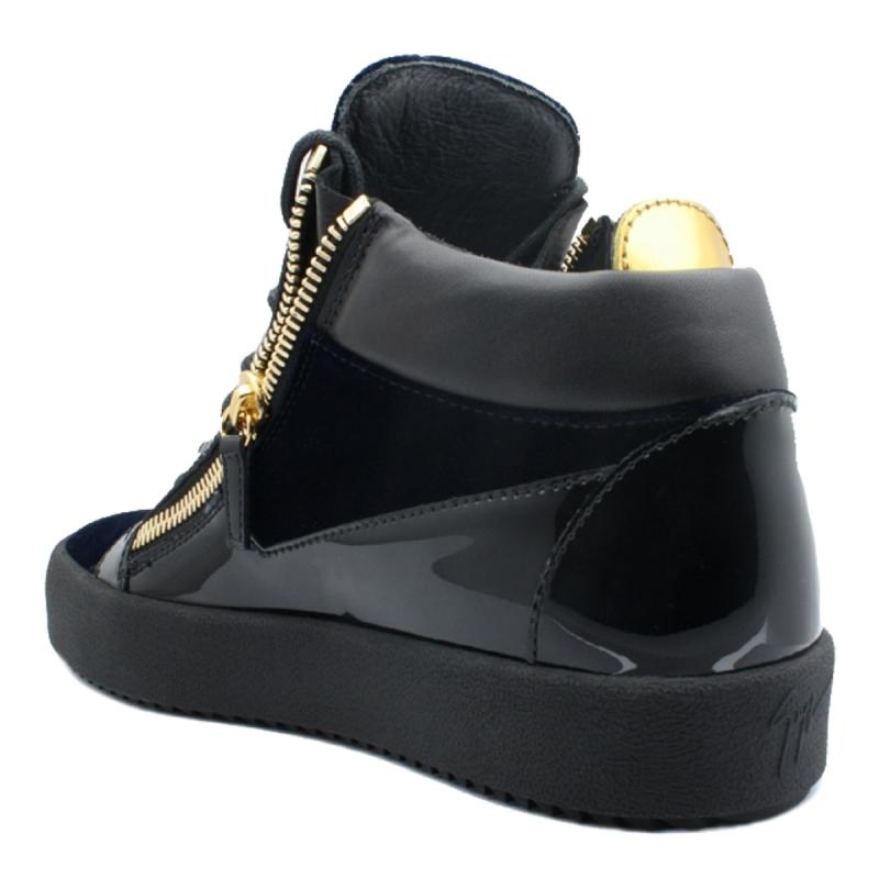 "Mid-top velvet sneakers ""KRISS"""