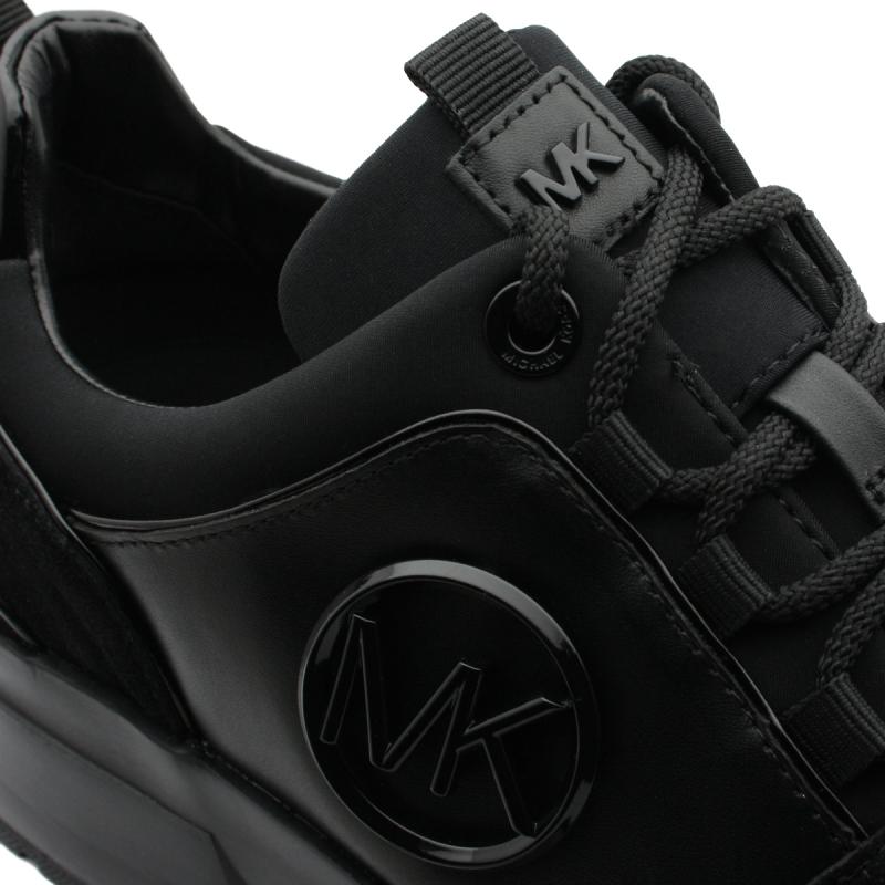 """COSMO"" en cuir noir et logo"