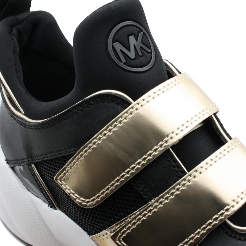 """Basket """"KEELEY""""en cuir métallisé"""