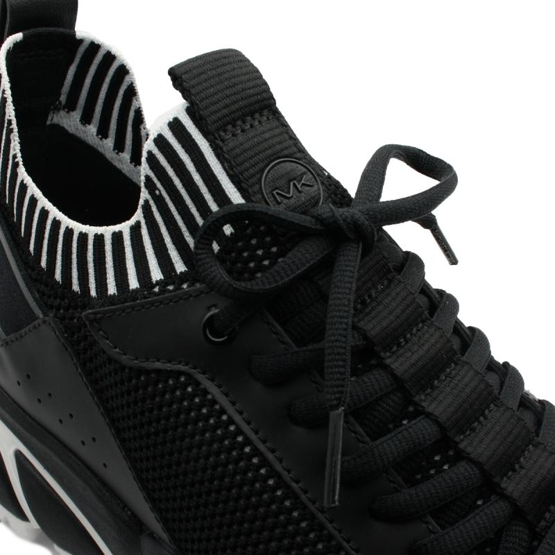 """Basket """"LUCAS""""en cuir noir"""