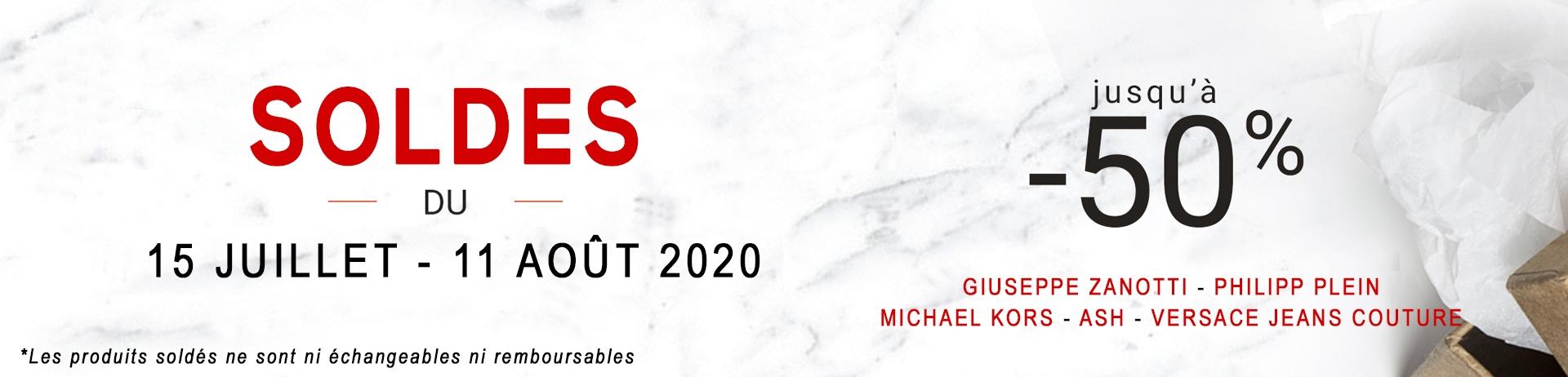 SOLDES JUILLET 2020